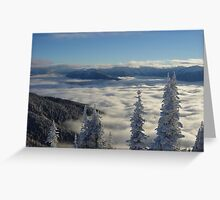 Hurricane Ridge Clouds 2 Greeting Card