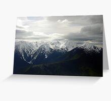 Dark Clouds at Hurricane Ridge Greeting Card