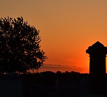 Cemetery Sunset by Sheryl Gerhard