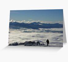 Hurricane Ridge Skier Greeting Card