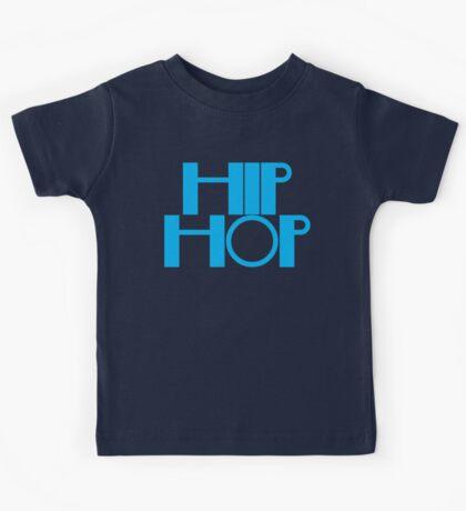HIP HOP in blue Kids Tee