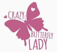 Crazy Butterfly lady One Piece - Short Sleeve