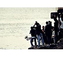 Bride's Escaping Into The Sea Photographic Print
