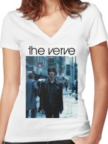 The Verve Women's Fitted V-Neck T-Shirt