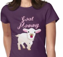 Goat mommy (cute white baby goat) Womens Fitted T-Shirt