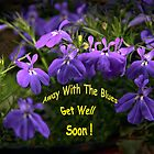 Get Well Soon - Blue Lobelia by heatherfriedman