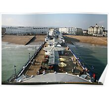 Sunny afternoon on Eastbourne Pier, East Sussex, UK Poster