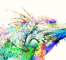 Watercolor reptile by purplesparrow