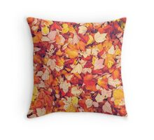 Scarlet Leaves  Throw Pillow