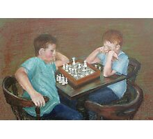 The Chess Game Photographic Print