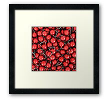 Kettlebells RED Framed Print