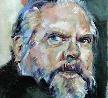 Orson Welles portrait. by Graham Hill