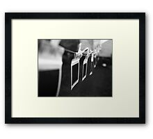 Ten Little Polaroids Hanging On the Line Framed Print