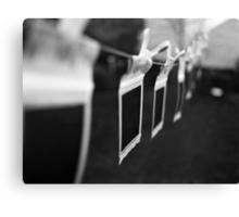 Ten Little Polaroids Hanging On the Line Canvas Print