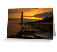 Barnegat Lighthouse Sunrise Greeting Card