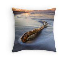 Just Drifting ~ Papamoa Dusk Throw Pillow