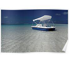 Beach at Kuredu Island Resort, Maldives Poster