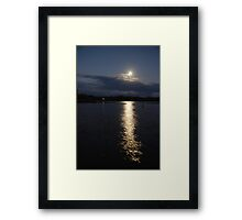 Moonscape at Fingal Head Framed Print
