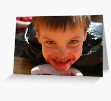 Family reunion Jello eating contest, this is how WE roll! Greeting Card