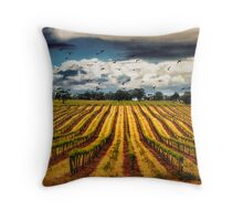 grapevines and birds Throw Pillow