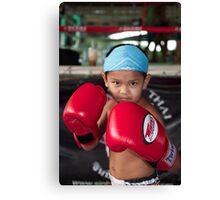 Big gloves Canvas Print