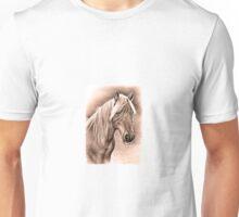 Haflinger Horse Mare Portrait  Unisex T-Shirt