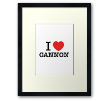 I Love CANNON Framed Print