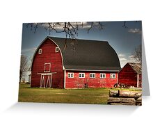 Old Red on the Prairies Greeting Card