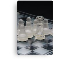 Chess Queen Following Canvas Print