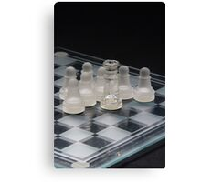 Chess Queen Following 2 Canvas Print
