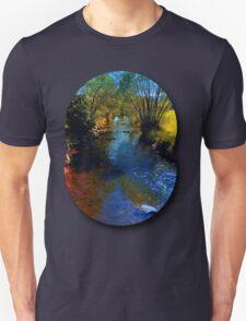 Vibrant river in autumn season T-Shirt