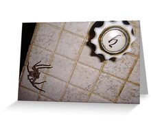 Huntsman Spider In The Bathroom Greeting Card