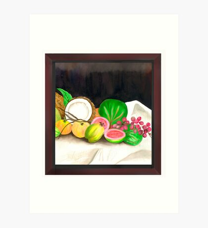 Puertorican Beach Grapes Plus Fruit Friends Art Print