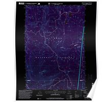 USGS Topo Map Oregon Pinhead Buttes 281102 1997 24000 Inverted Poster