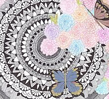Butterfly Mandala by Devi Senthil