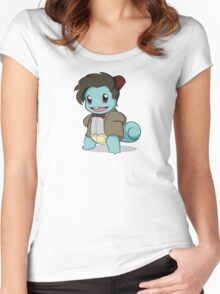 Squirtle Who Women's Fitted Scoop T-Shirt