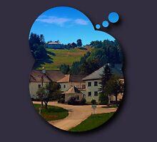 Small village in autumn scenery Unisex T-Shirt