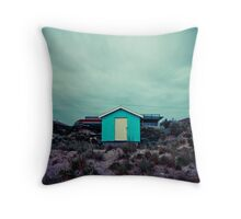 Lonely Beach House Throw Pillow