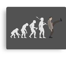 Evolution of Bean (White) Canvas Print