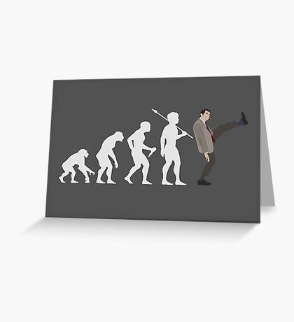 Evolution of Bean (White) Greeting Card