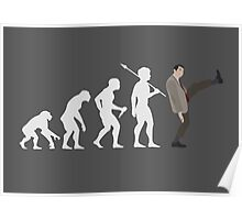 Evolution of Bean (White) Poster