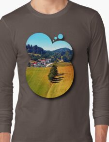 A village, some trees, and more boring scenery Long Sleeve T-Shirt