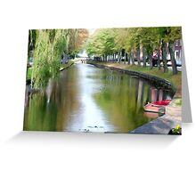 Gouda Netherlands Canal Greeting Card