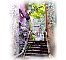 Alley way in small Arkansas town Photographic Print