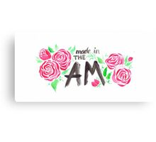 Made in The AM floral watercolor typography Canvas Print