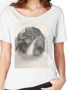 Cute Guinea Pig Painting  Women's Relaxed Fit T-Shirt