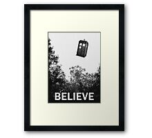 Believe - Police Box Framed Print