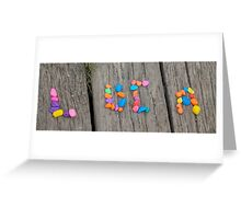 collage letter Greeting Card