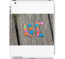 collage letter iPad Case/Skin