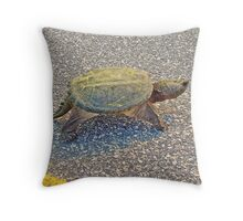 Common Snapping Turtle - Chelydra serpentina Throw Pillow